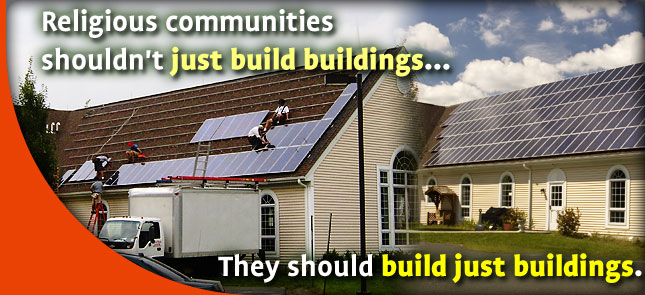Religious communities shouldn't just build buildings... They should build just buildings.